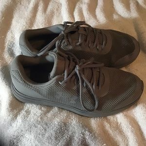 Gray Under Armour sneakers size 7